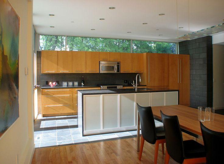 Clerestory glazing above Kitchen units.
