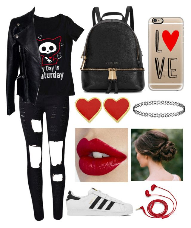 """""""Untitled #178"""" by anastasija-818 ❤ liked on Polyvore featuring Alexander McQueen, adidas, Michael Kors, Casetify and FOSSIL"""