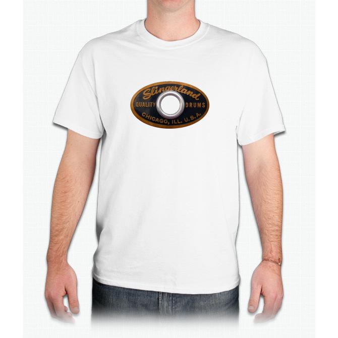 Unisex T-Shirt Slingerland Drum Badge Shirts For Men Women Neck T Shirts