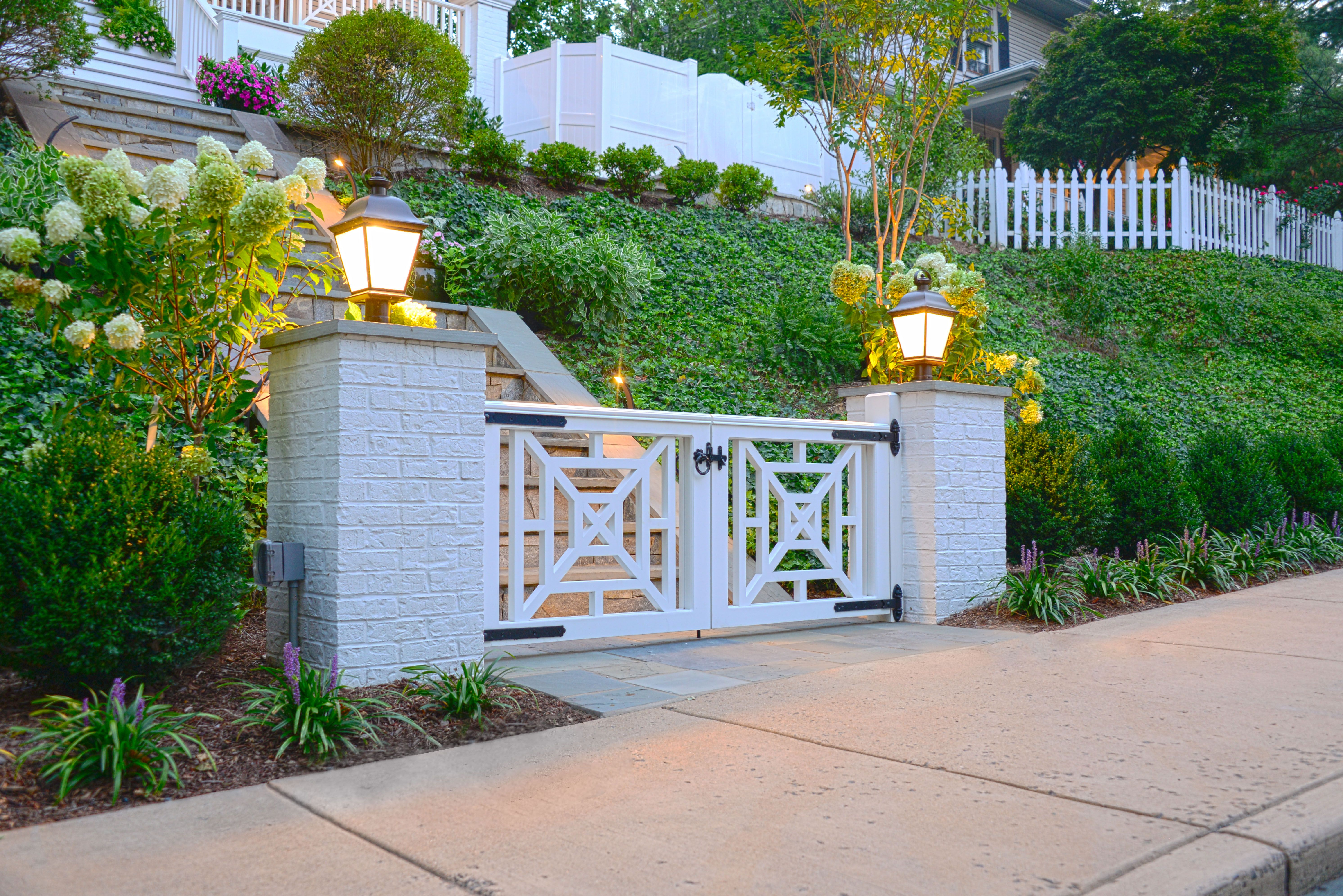 Gate and Landscape designed by Mary Kirk Menefee; Gate ...