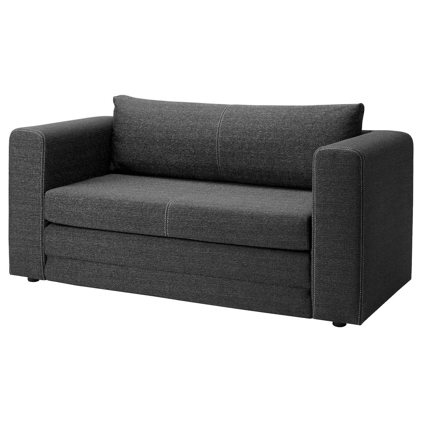 2 Zits Bedbank.Askeby 2 Zits Slaapbank Grijs In 2020 Ikea Sofa Sofa Small Couch