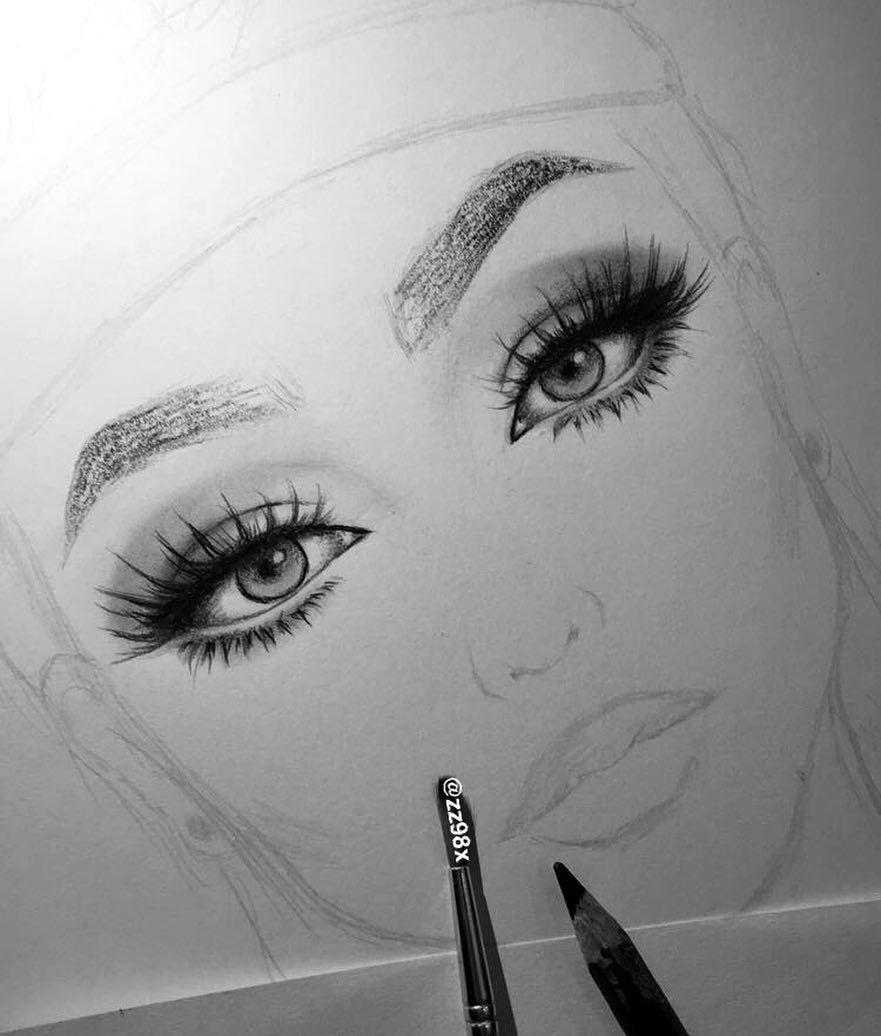 Pin By Ahazalia On Art Makeup Drawing Makeup Drawing Sketches