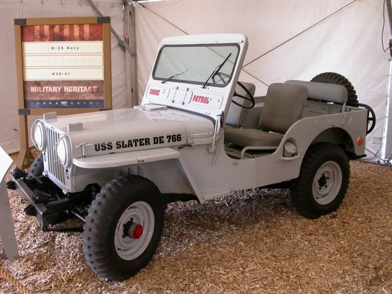 Willys M38 Shore Patrol Jeep At The Camp Jeep History Tent