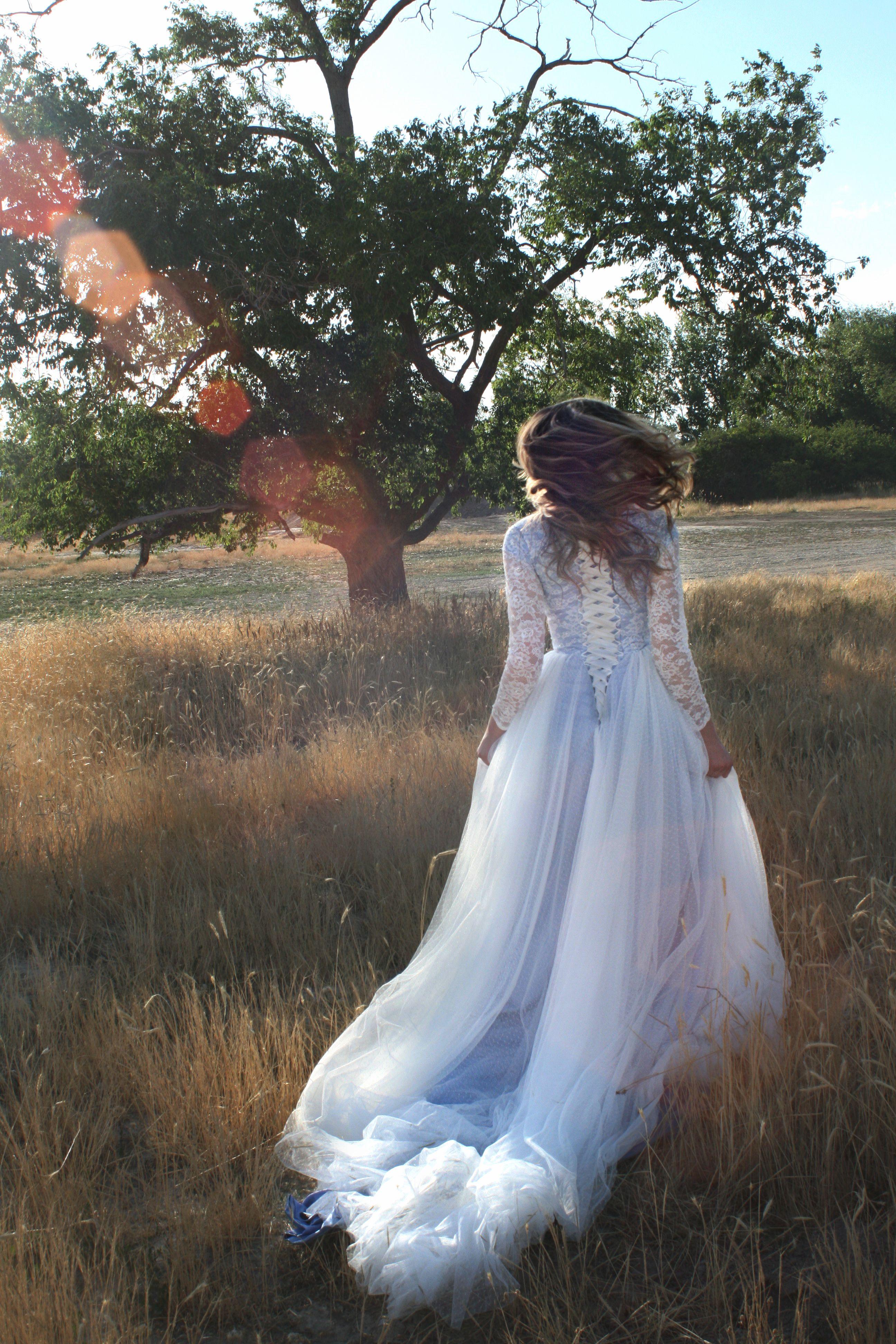 gown by Elizabeth Cooper Design modest wedding