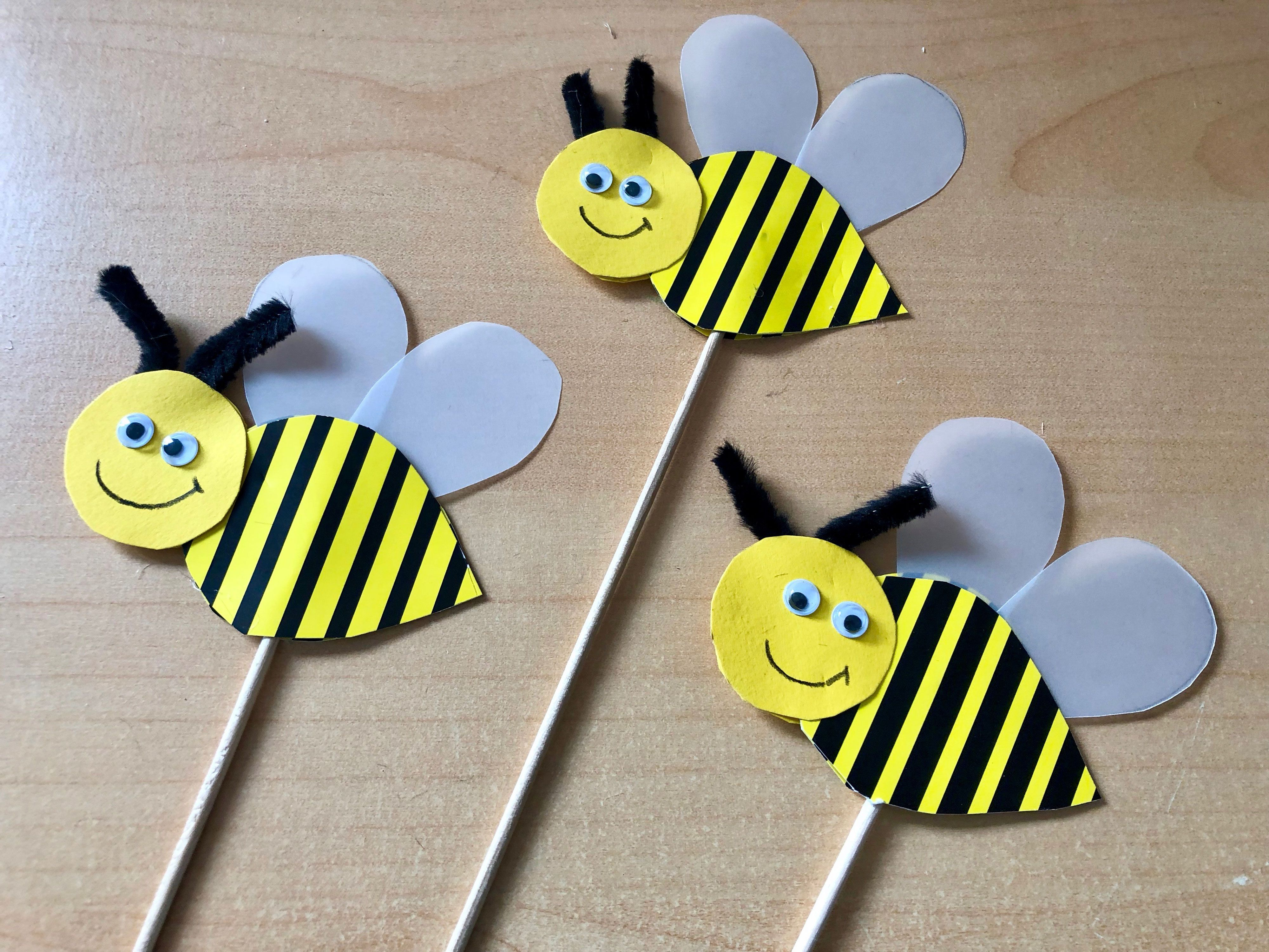Kleine Bienchen basteln