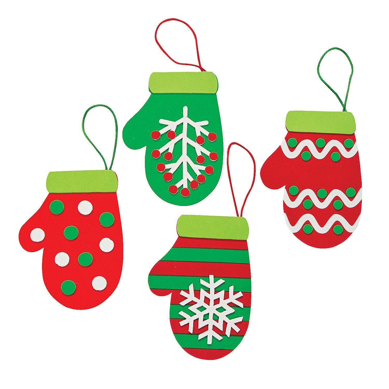 Christmas ornament craft kit - Christmas Mitten Ornament Craft Kit Orientaltrading Com