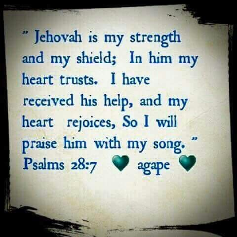 Jehovah is my strength.