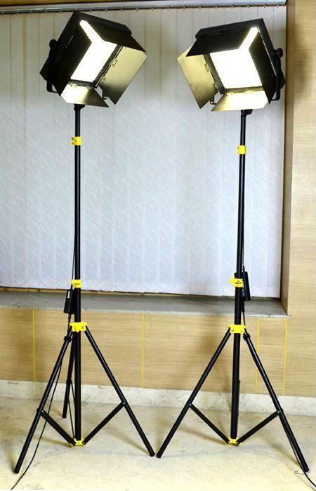 Camtree 2 X 1000pc Bi Color Studio Led Lights Tripod For Movie Film Wedding Photo