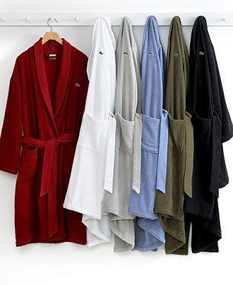 A Shower Robe Lacoste Men S Textured Bath Robe Macy S
