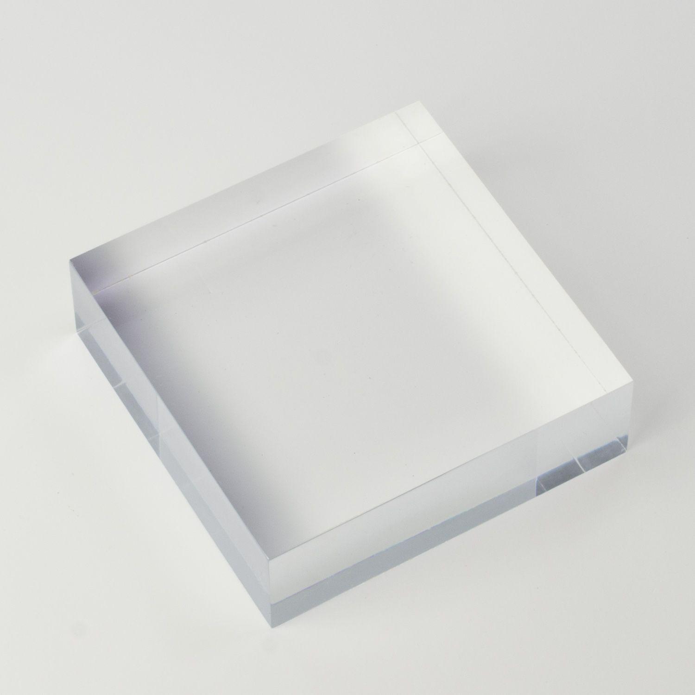 Solid Clear Acrylic Block 4 X 4 X 1 Thick Clear Acrylic Custom Displays Acrylic Display