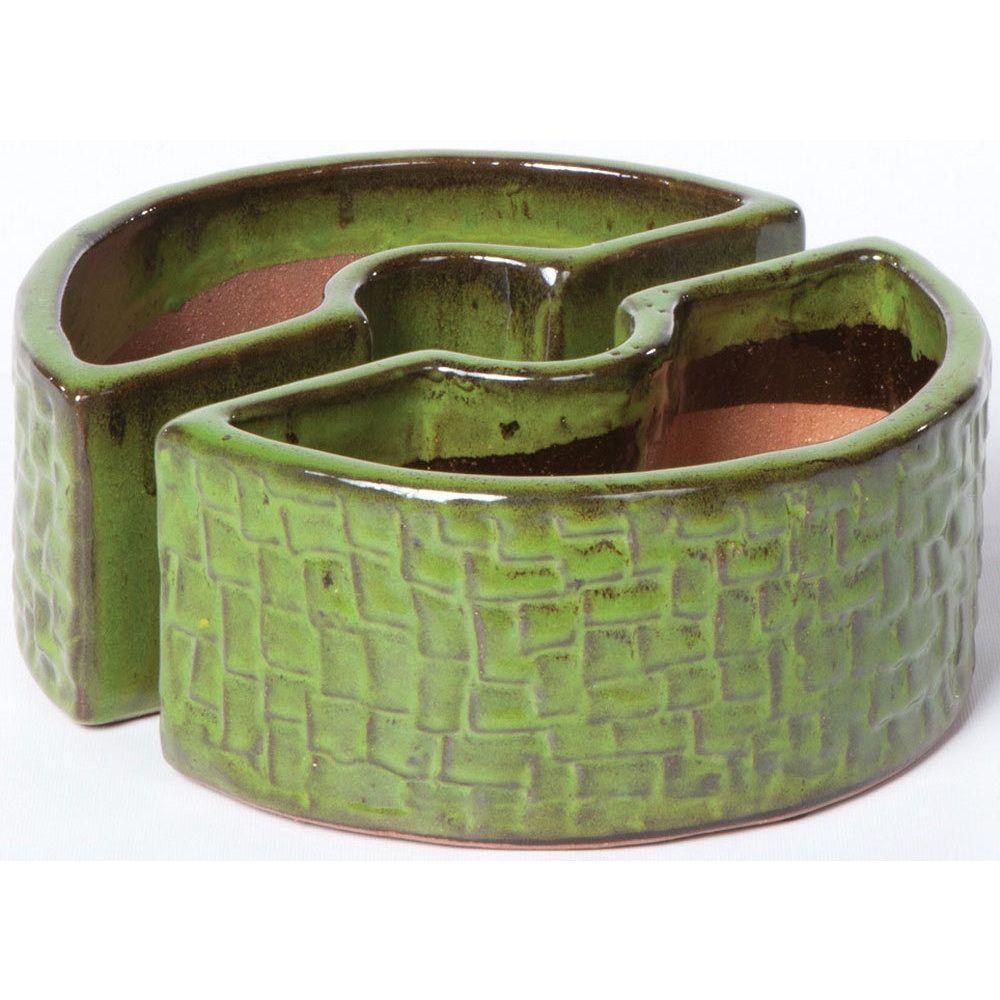 Alfresco Home Island Green Ceramic Cobblestone Umbrella