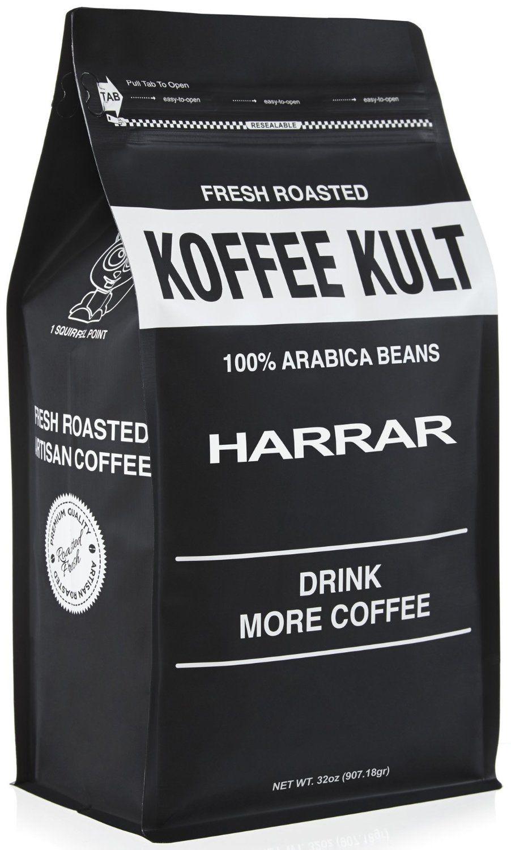 Koffee Kult Ethiopian Harrar Coffee Whole Bean Coffee