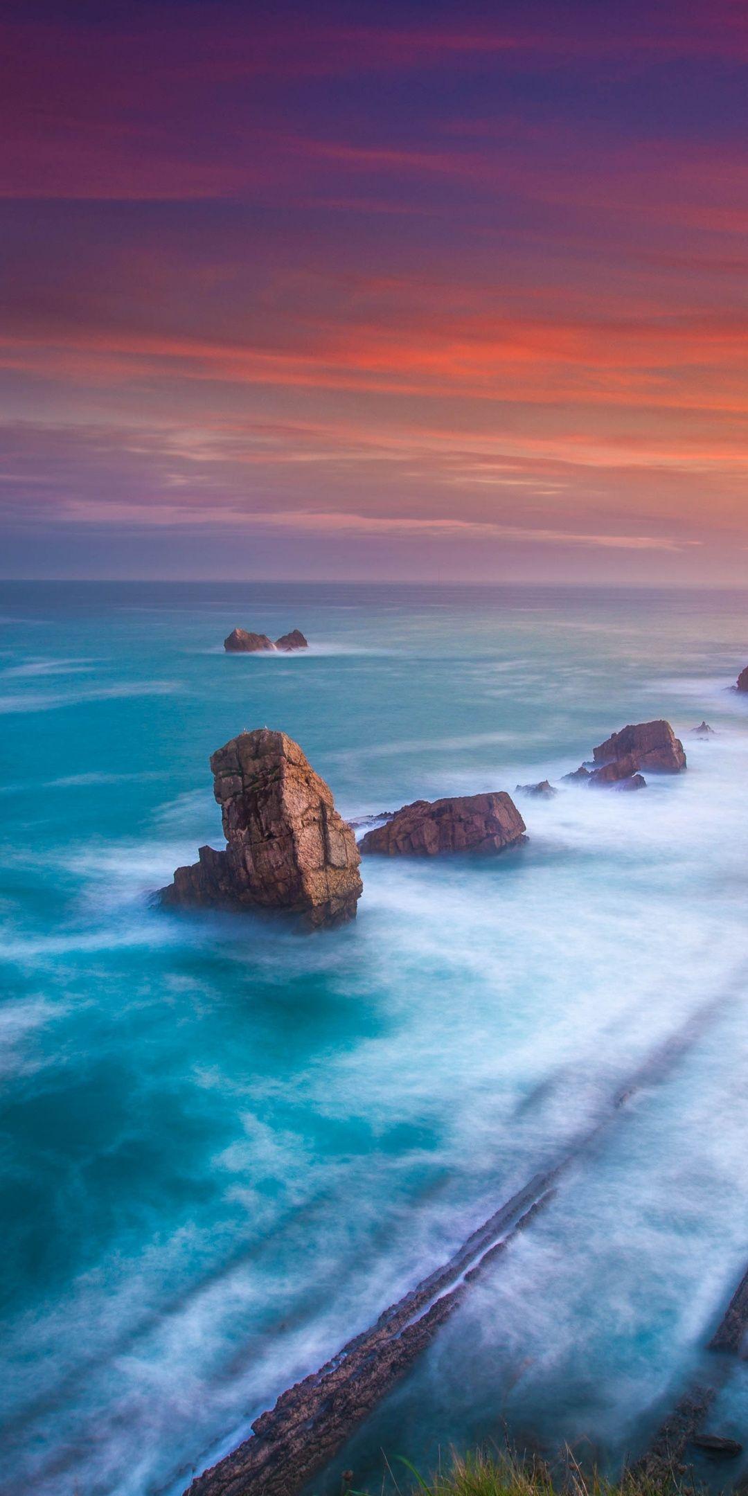 Playa De Portio Beach Rocks Cliff Adorable Wallpaper Nature Photography Nature Pictures Landscape Wallpaper
