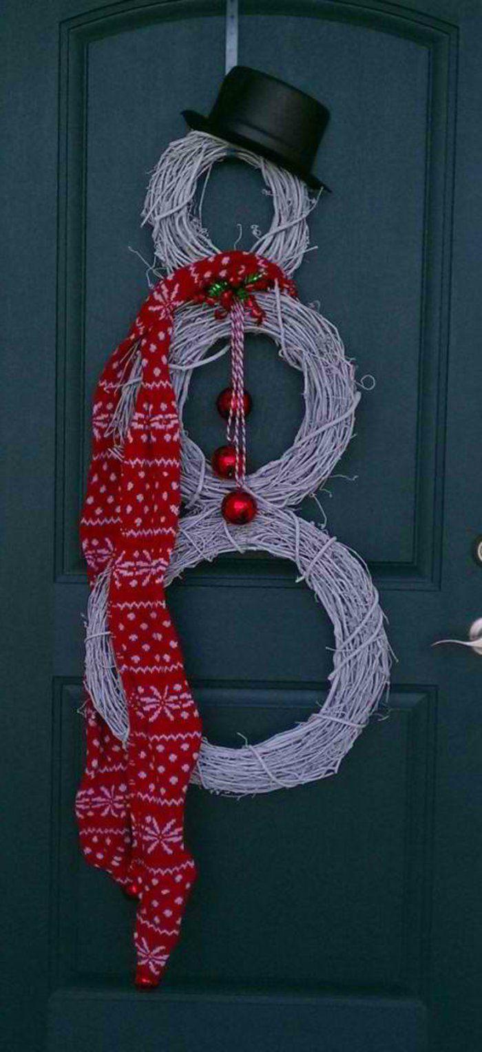 Weihnachtsdeko schneemann aussen