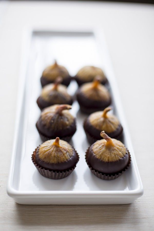 chocolate-dipped Calimyrna figs filled with dark chocolate ...
