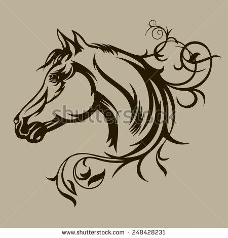 horse tattoo stock photos images pictures shutterstock etc pinterest horse tattoo. Black Bedroom Furniture Sets. Home Design Ideas