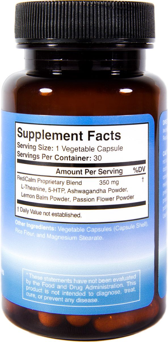 RediCalm Bottle Supplement Facts