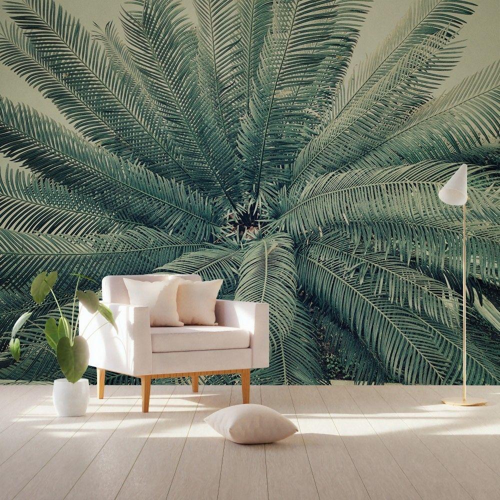 Vintage Palm Leaf Wallpaper Mural Palm leaf wallpaper