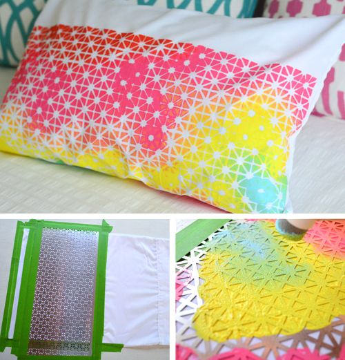Sewing Instructions For A Pillow: Colorful pillow art print painting DIY project #DIY2try #diy2014    ,