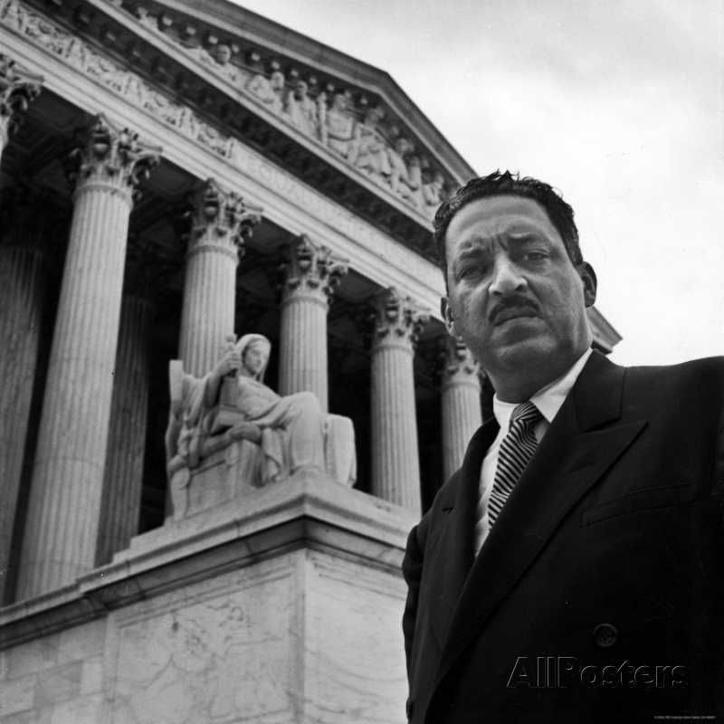 Naacp Chief Counsel Thurgood Marshall Standing On Steps Of The Supreme Court Building Premium Photographic Print Hank Walker Allposters Com Thurgood Marshall African American History African American