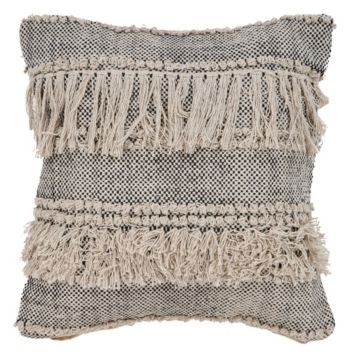 Lr Home Fringe Cozy Throw Pillow - Black
