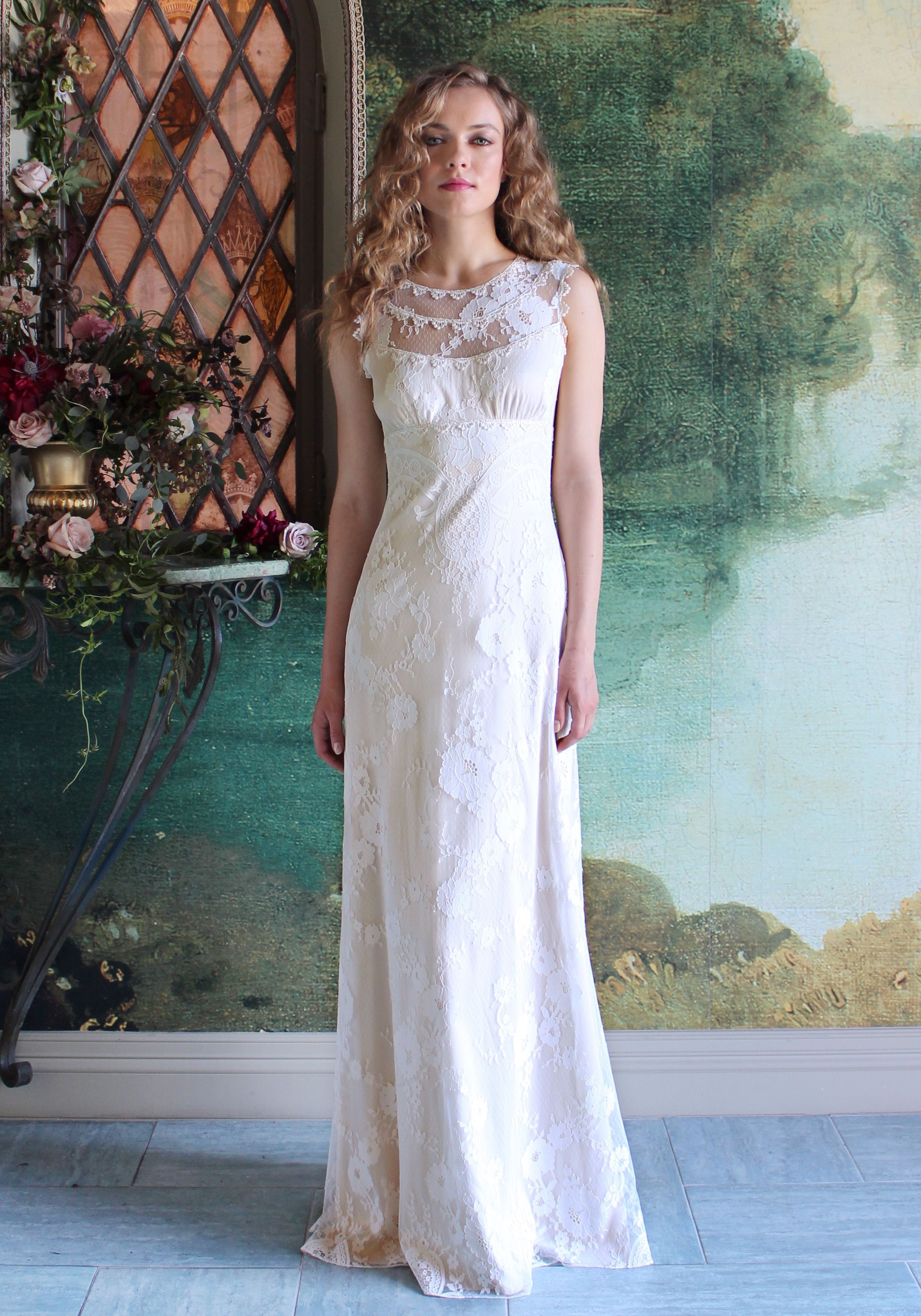This Victorian-inspired Georgia wedding dress from @clairepettibone ...