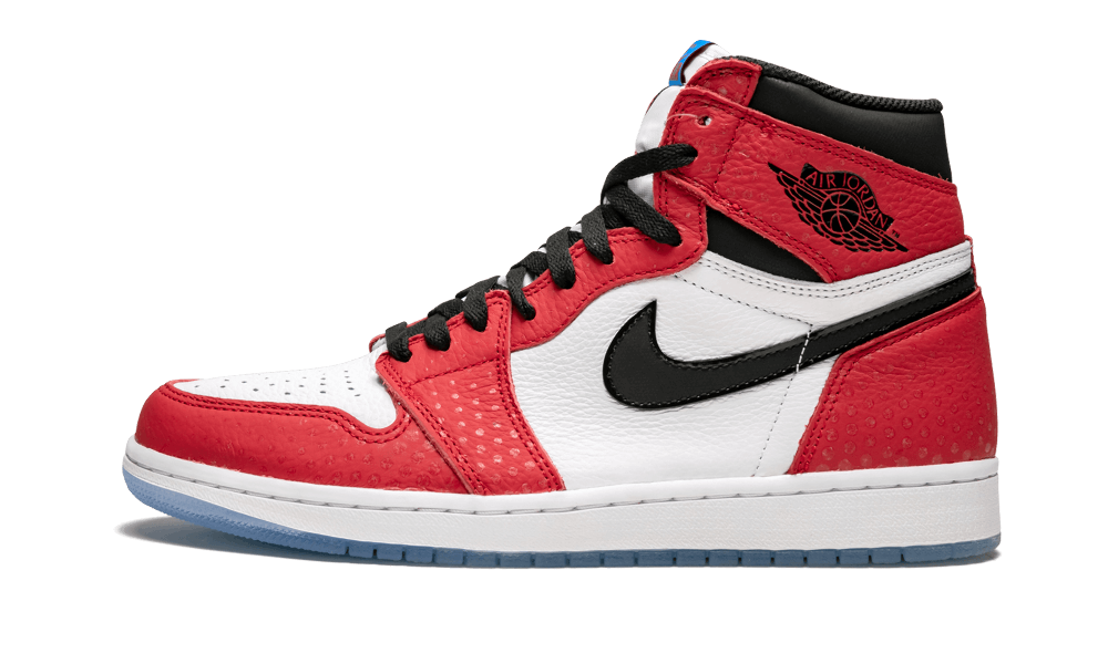 722fe3d4a59a Jordan AIR 1 RETRO HIGH OG -  Spider-Man Origin Story  - Gym Red ...