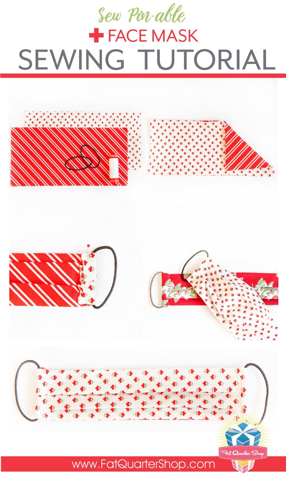 Free Face Mask Sewing Tutorial With Hair Ties Size Options In