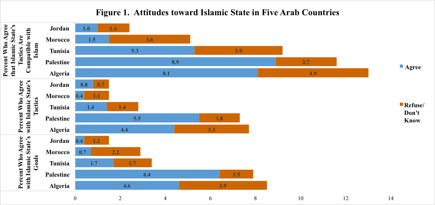 Arab Barometer Daesh Survey Chart Politics Pinterest - Religion chart 2016