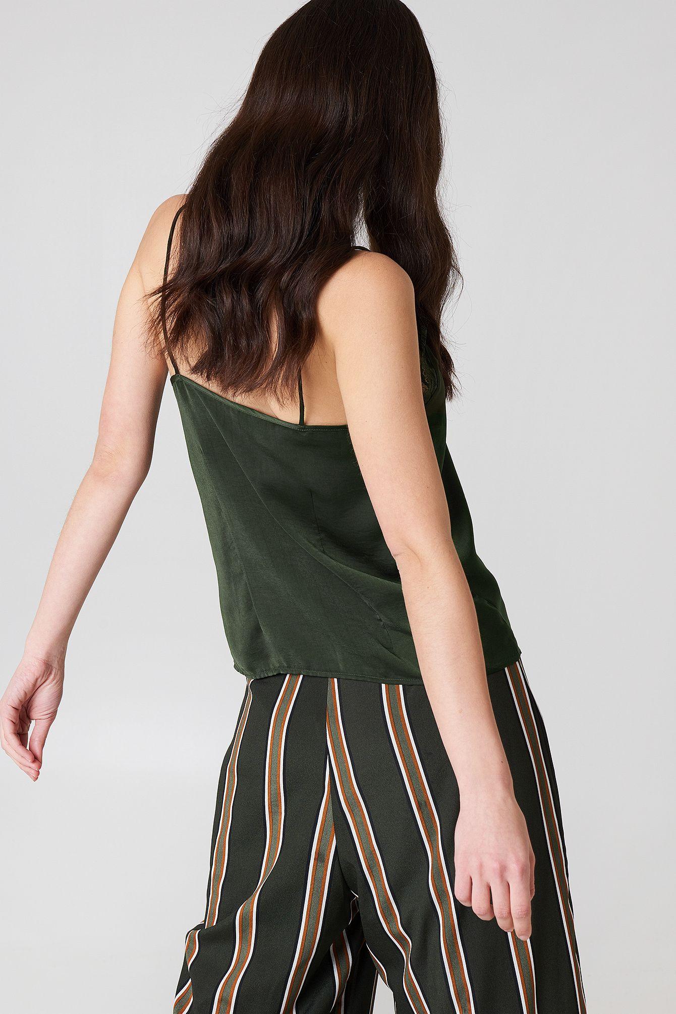 Stine Lace Singlet Grün