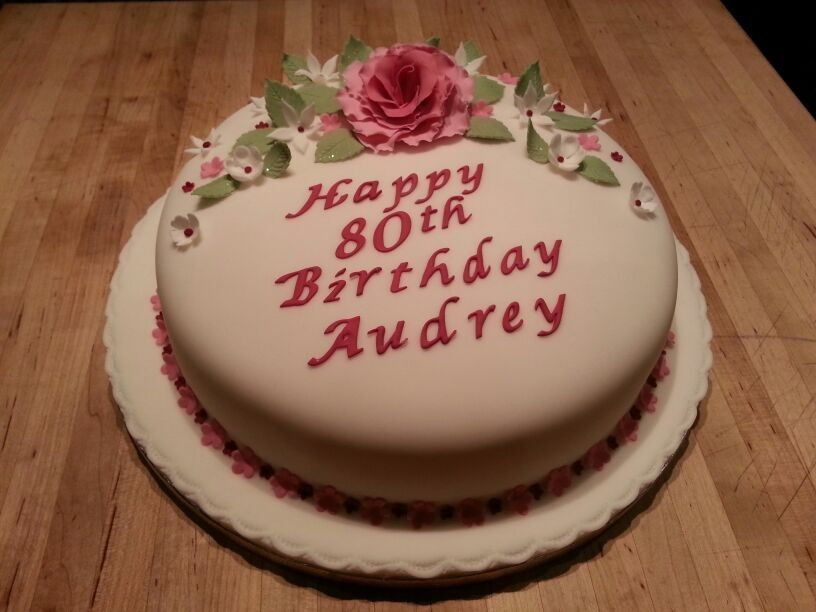 80th Birthday Cake For A Lovely Lady My Cakes Pinterest 80th