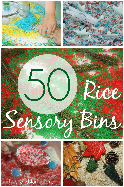 50 Rice Sensory Bin Play Ideas