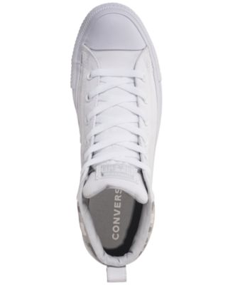 c0903be27be7 Converse Men s Chuck Taylor All Star Street Mid Combat Zone Casual Sneakers  from Finish Line - White 11.5