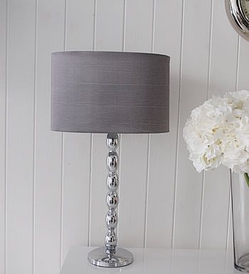 Chrome And Grey Table Lamp. Ideas And Designs In Furniture And Accessories  For Decorating Your