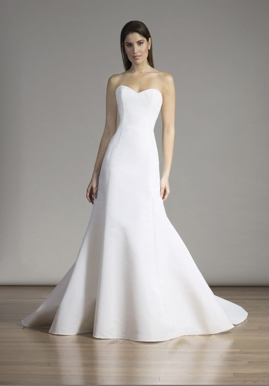 Strapless Silk Wedding Dress With A Line Silhouette And Dropped Waist I Style 6861