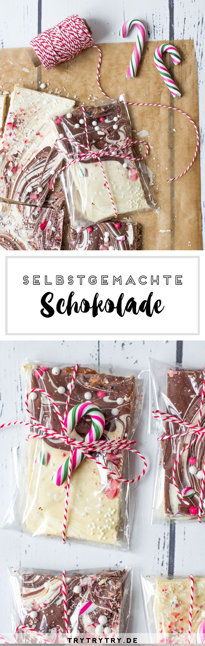 Selbstgemachte Schokolade zum Verschenken. Tolles DIY Geschenk für ...