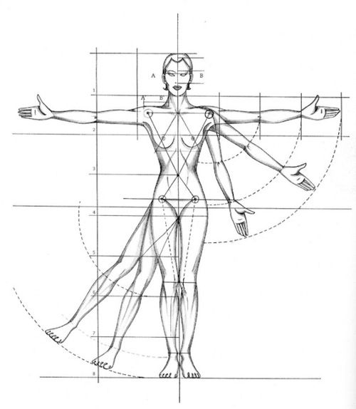 Drawing Of Proportions Of A Figure For Fashion Fashion Figure Drawing Fashion Figures Body Proportion Drawing