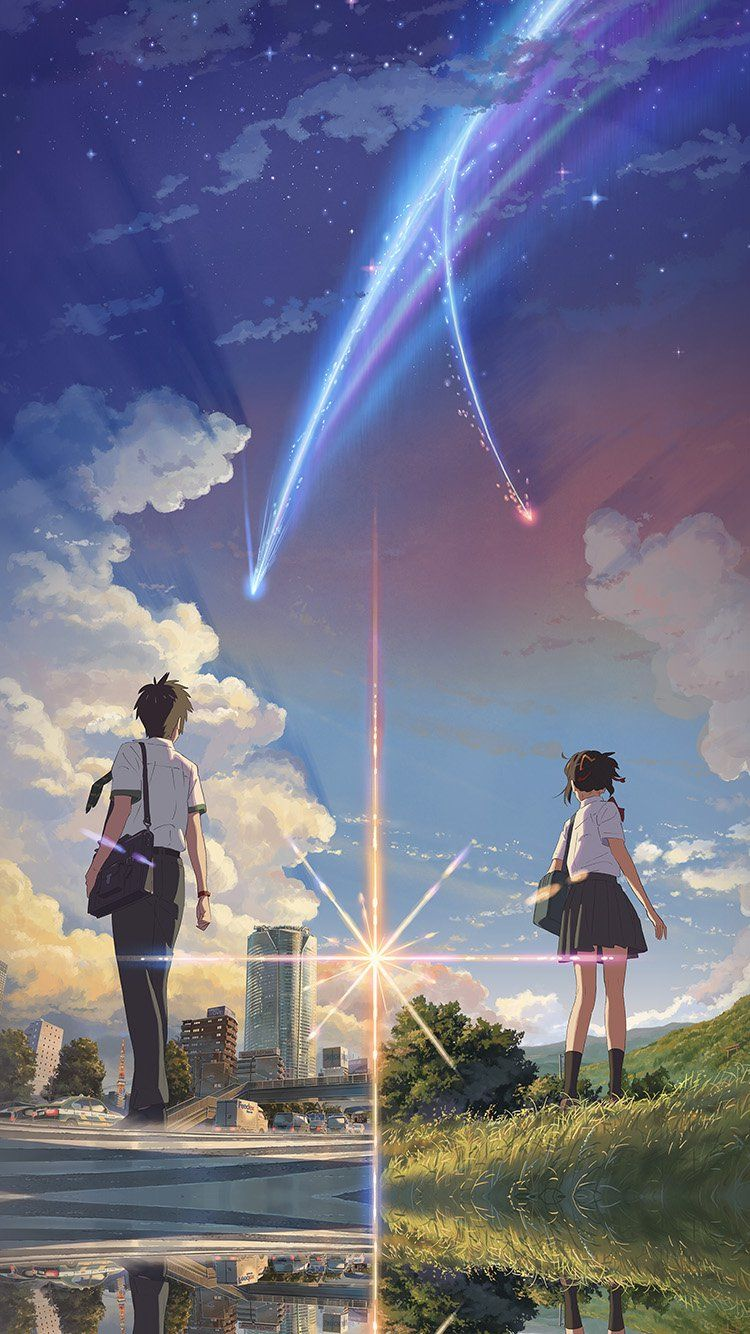 Anime Film Yourname Sky Illustration Art Wallpaper Hd Iphone