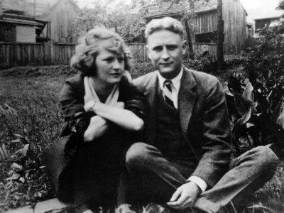 Zelda and F. Scott Fitzgerald.
