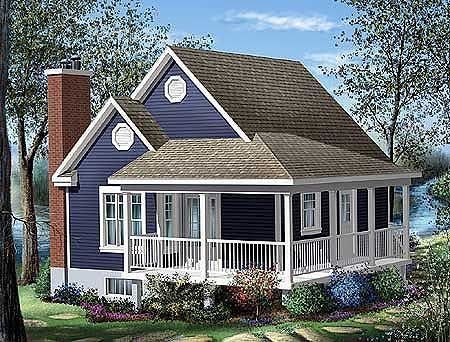 Plan 80555pm Simple One Bedroom Cottage Small Cottage House Plans Porch House Plans Cottage Style House Plans