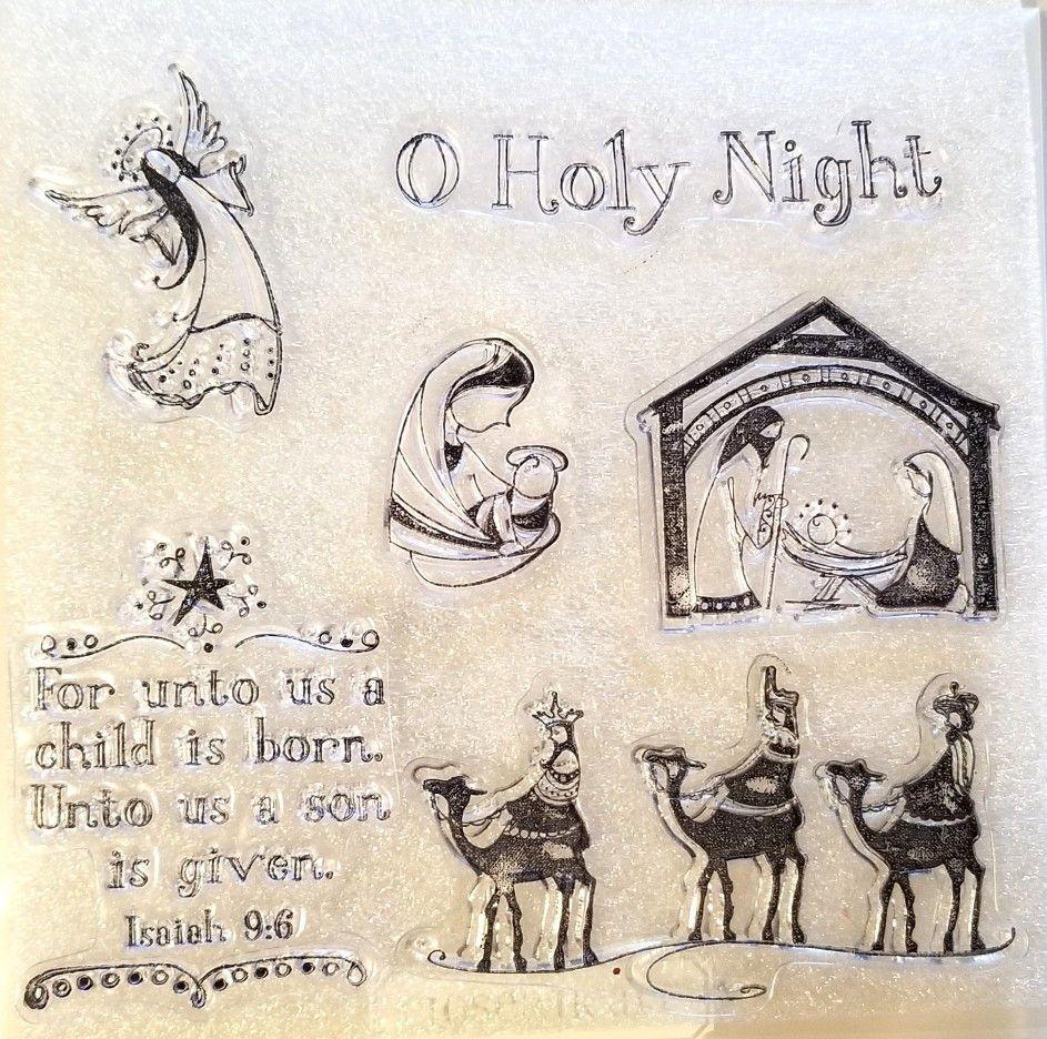 Inkadinkado 6-Piece O Holy Night Clear Stamp
