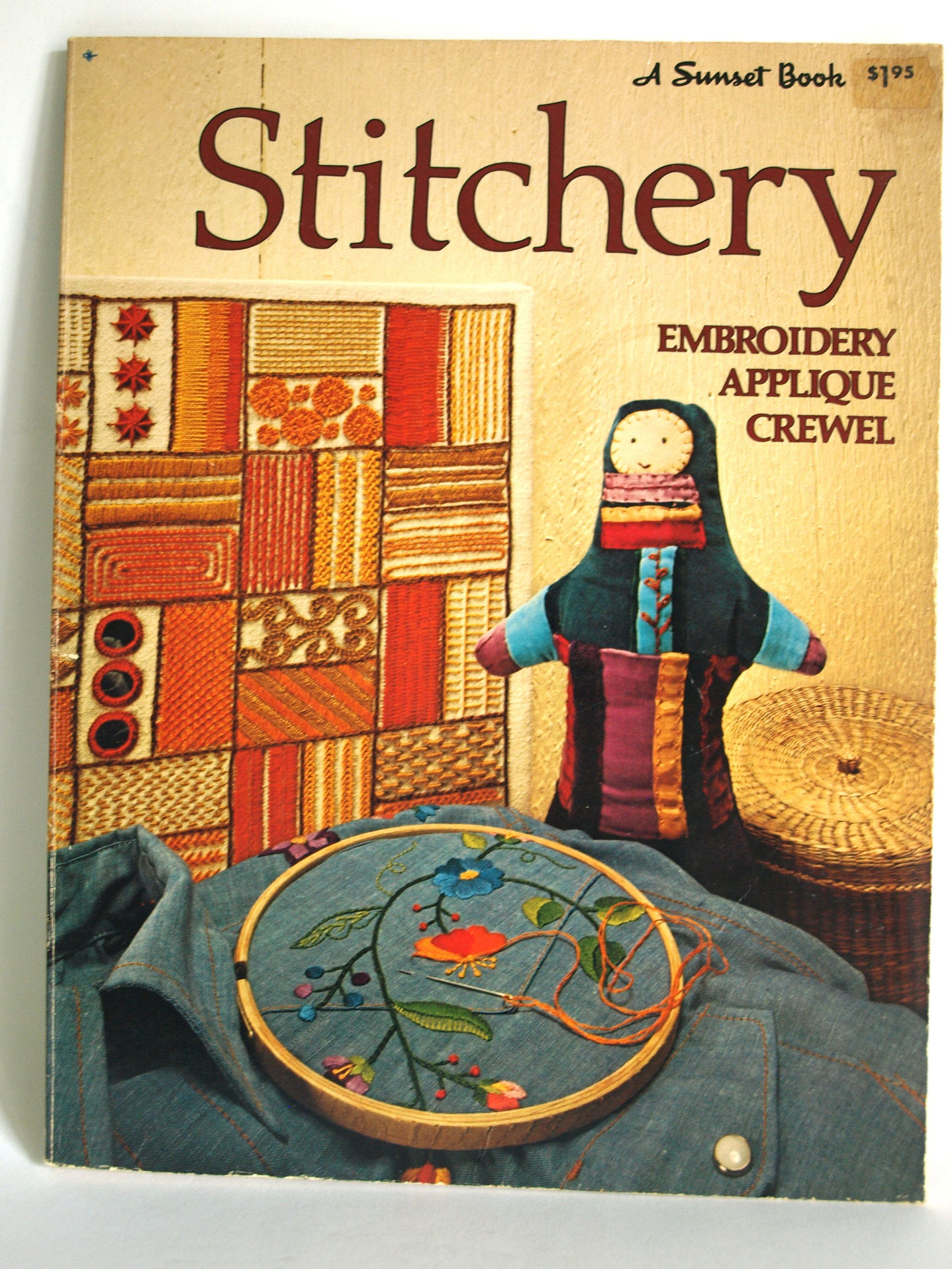 Sunset Stitchery Embroidery Applique Crewel Book - Vintage Retro 70s  Techniques DIY Projects - Crafting Patterns by FunkyKoala on Etsy