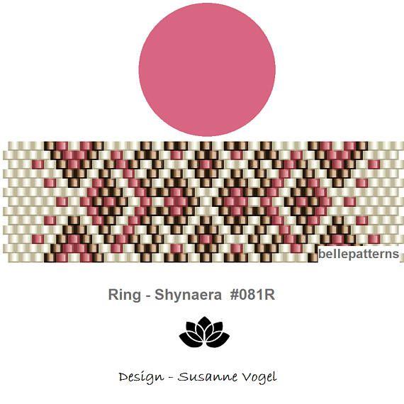 peyote ring pattern,PDF-Download, #081R, beading pattern, beading ...