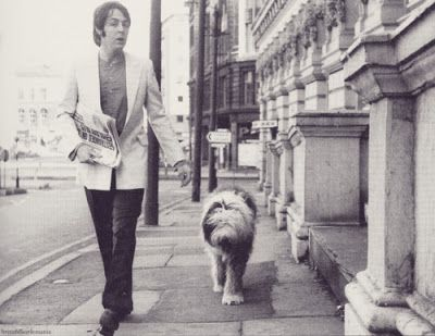 Paul & Martha out for a walk in London.