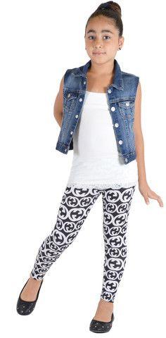 Kids Black & White G Print Leggings| Home Goods Galore