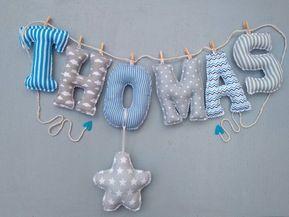 Letras, Nombre bebe, niño con letras de tela en guirnalda. Custom name banner, nursery decor, personalized name, baby name decor fabric