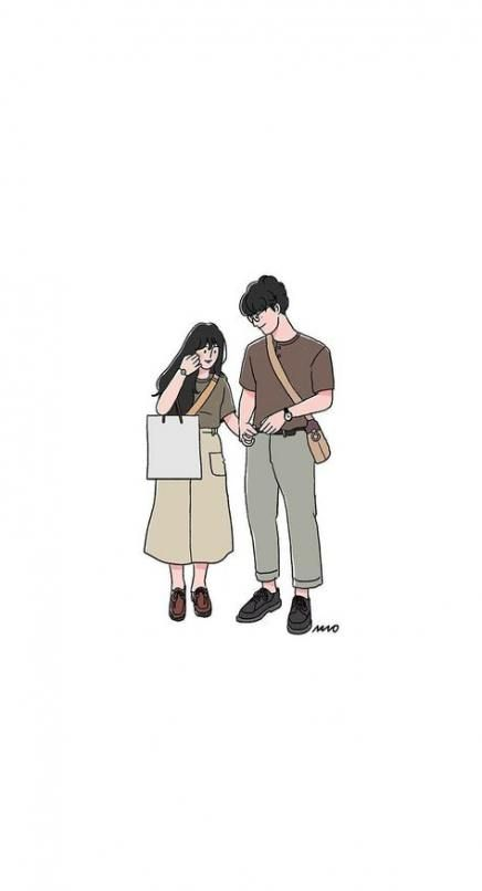 Wall Paper Cartoon Couple Illustrations 41 Ideas