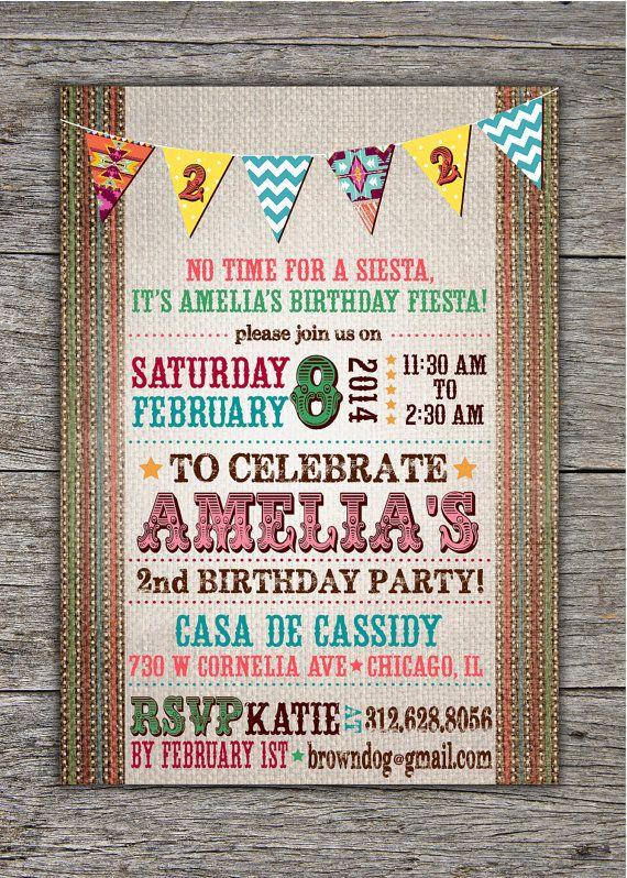 children s birthday invitation fiesta aztec southwest theme