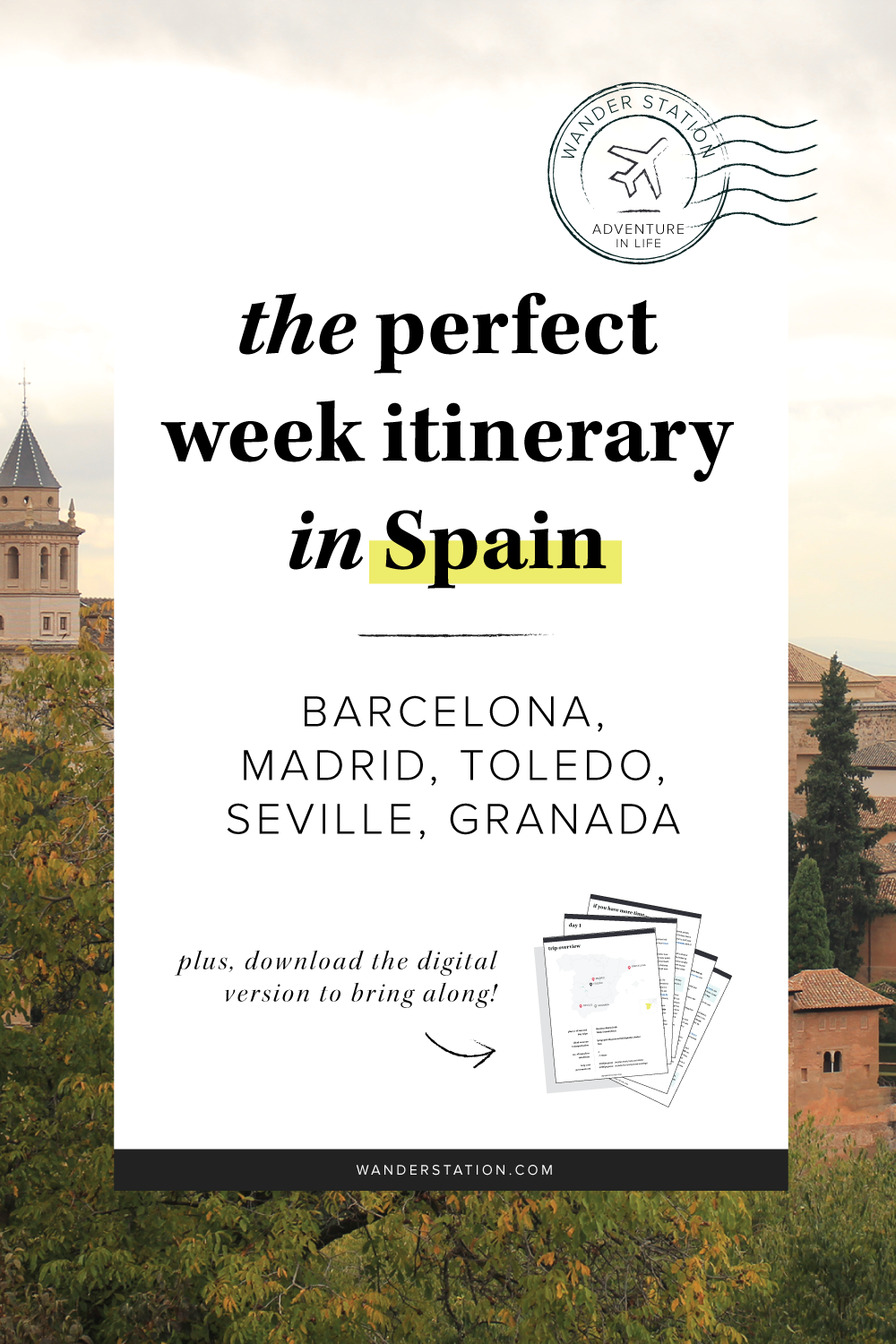 Camino útlevél The Perfect Week Itinerary Spain Spain Travel Tips Spain