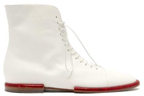 31ba279f65 Shop for Gabriela Hearst Samos Lace Up Leather Ankle Boots - Womens - White  at ShopStyle. Now for $1,090.